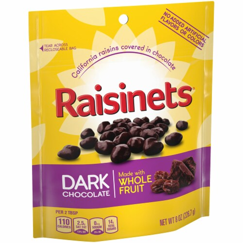 Raisinets Dark Chocolate Covered Raisins Perspective: left