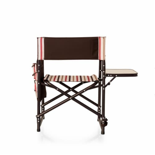 Sports Chair, Moka Collection - Brown with Beige & Red Accents Perspective: left