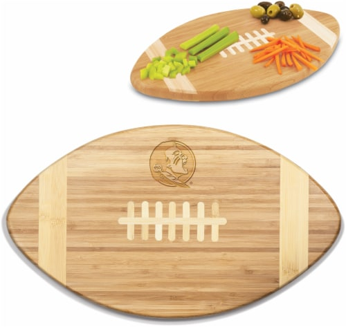 Florida State Seminoles Touchdown! Football Cutting Board & Serving Tray Perspective: left