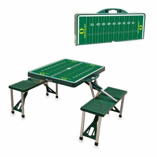 Oregon Ducks Portable Picnic Table Perspective: left