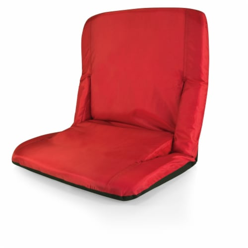 Ventura Portable Reclining Stadium Seat, Red Perspective: left