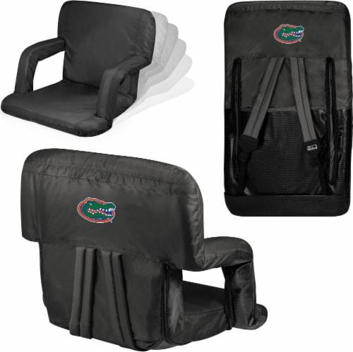 Florida Gators Ventura Portable Reclining Stadium Seat - Black Perspective: left