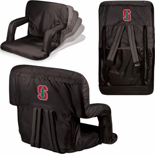 Stanford Cardinal Ventura Portable Reclining Stadium Seat - Black Perspective: left