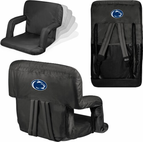 Penn State Nittany Lions Ventura Portable Reclining Stadium Seat - Black Perspective: left