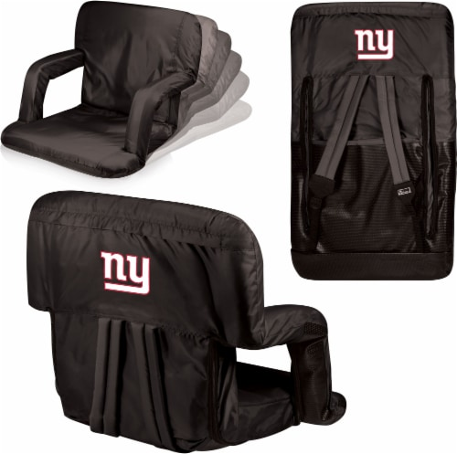 New York Giants Ventura Portable Reclining Stadium Seat - Black Perspective: left