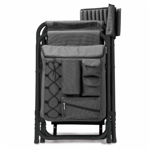 Picnic Time Fusion Backpack Chair with Cooler Perspective: left