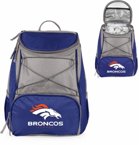 Denver Broncos  PTX Cooler Backpack - Navy Perspective: left