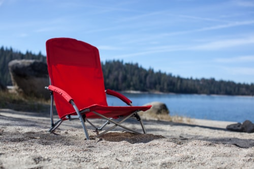 Tranquility Portable Beach Chair, Red Perspective: left