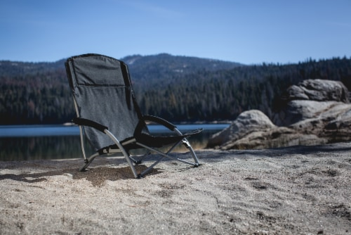 Tranquility Portable Beach Chair, Black Perspective: left
