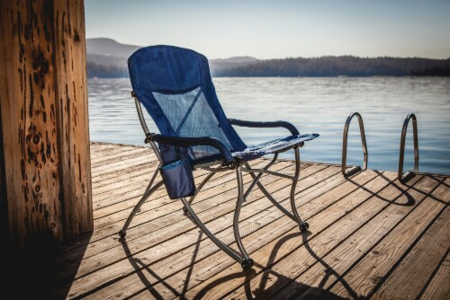 PT-XL Camp Chair, Navy Blue Perspective: left