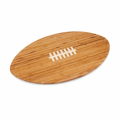 Kickoff Football Cutting Board & Serving Tray, Bamboo Perspective: left