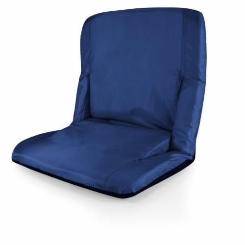 Ventura Portable Reclining Stadium Seat - Navy Blue Perspective: left