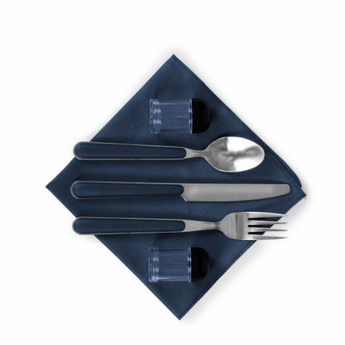 Pranzo Lunch Cooler Bag, Navy Blue Perspective: left