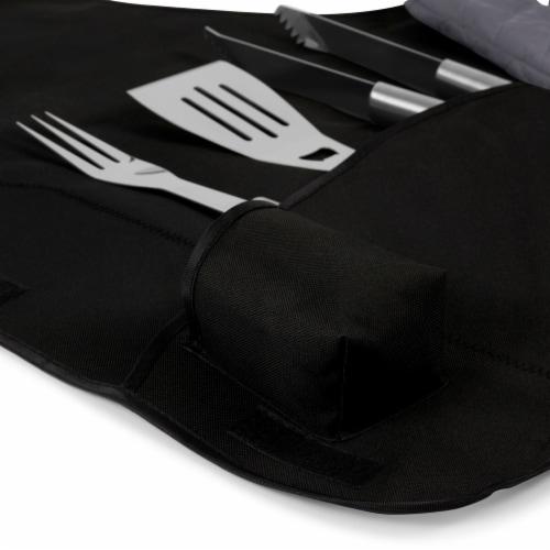 Kansas Jayhawks - BBQ Apron Tote Pro Grill Set Perspective: left