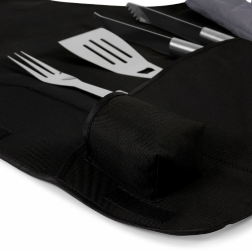 Nebraska Cornhuskers - BBQ Apron Tote Pro Grill Set Perspective: left