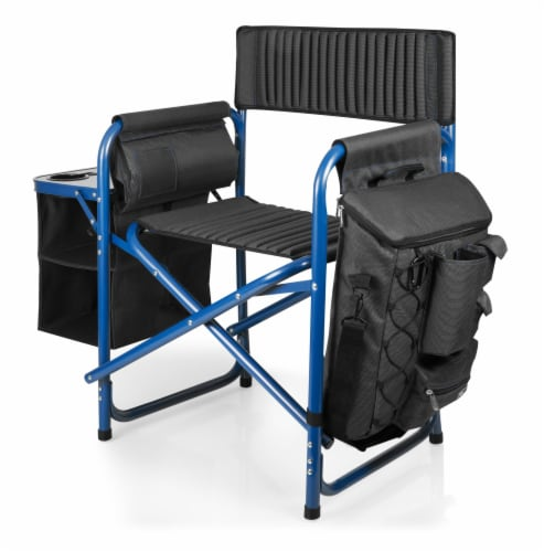 West Virginia Mountaineers - Fusion Backpack Chair with Cooler Perspective: left