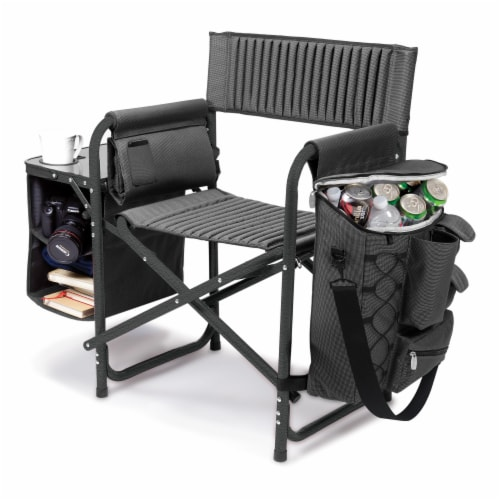 TCU Horned Frogs - Fusion Backpack Chair with Cooler Perspective: left