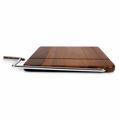 Meridian Black Walnut Cutting Board & Cheese Slicer, Black Walnut Perspective: left