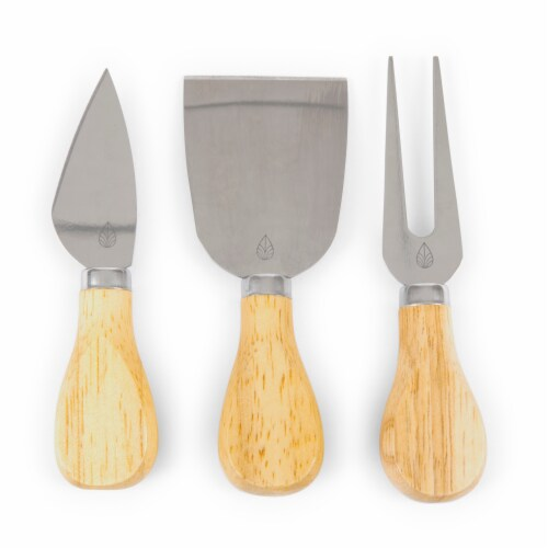 Oregon Ducks - Brie Cheese Cutting Board & Tools Set Perspective: left