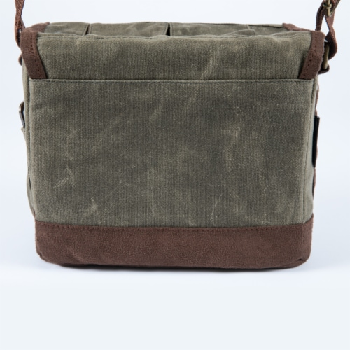 Legacy Beer Caddy Cooler Tote with Opener - Khaki Green/Brown Perspective: left