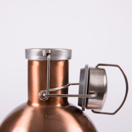 Stainless Steel 64 oz. Growler, Copper Perspective: left
