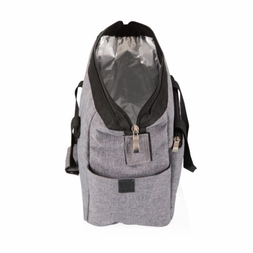 On The Go Lunch Cooler, Heathered Gray Perspective: left