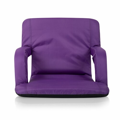 Ventura Portable Reclining Stadium Seat, Purple Perspective: left