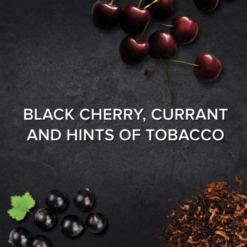 Menage a Trois Cabernet Sauvignon Red Wine 750mL Wine Bottle Perspective: left
