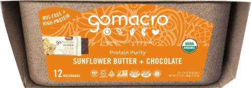 GoMacro MacroBar Sunflower Butter & Chocolate Bars Perspective: left