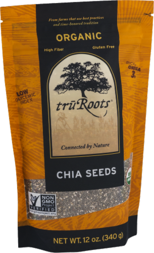 truRoots Organic Chia Seeds Perspective: left