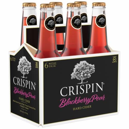 Crispin Blackberry Pear Gluten Free Hard Cider Perspective: left