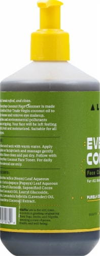 Alaffia Everyday Coconut & Neem Cleansing Face Wash Perspective: left