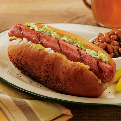 Kansas City Steak Beef Hot Dogs 12 Count (Approximate Delivery is 3 - 8 Days) Perspective: left