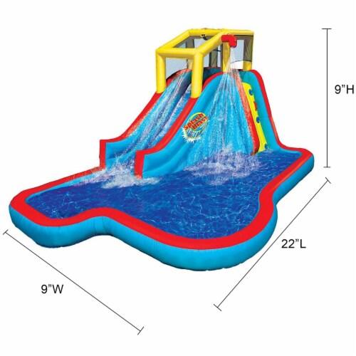 Banzai Slide N Soak Splash Park Inflatable Outdoor Kids Water Park Play Center Perspective: left