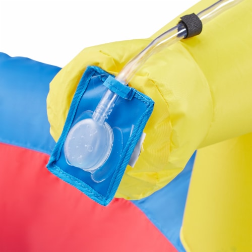 Banzai Hydro Blast Inflatable Play Water Park with Slides and Water Cannons Perspective: left