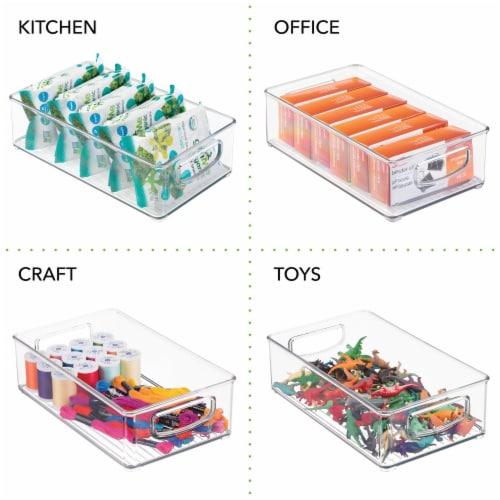 mDesign Plastic Kitchen Food Storage Organizer Bin - 8 Pack Perspective: left