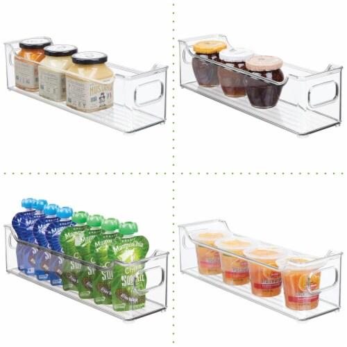mDesign Slim Plastic Kitchen Pantry Cabinet Food Storage Bin, 4 Pack Perspective: left