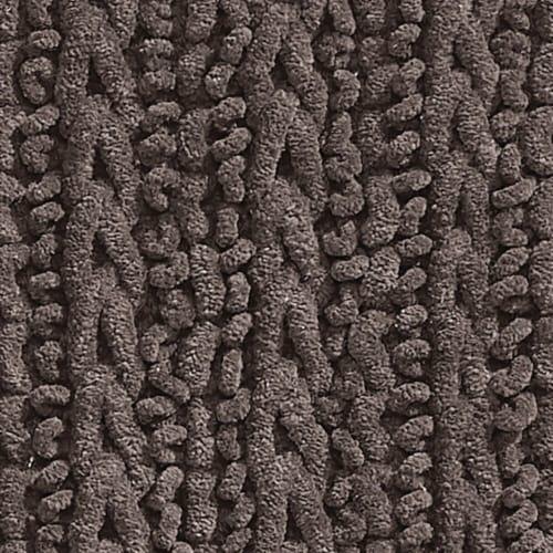 mDesign Soft Cotton Spa Mat Rug for Bathroom, Varied Sizes, Set of 3 - Brown Perspective: left