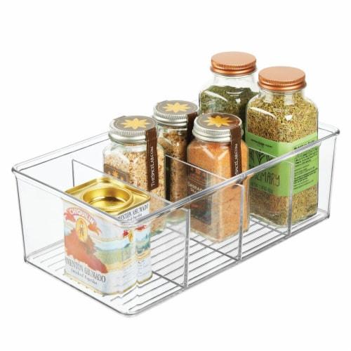 mDesign Plastic Kitchen Pantry Food Storage Organizer Bin, 2 Pack Perspective: left