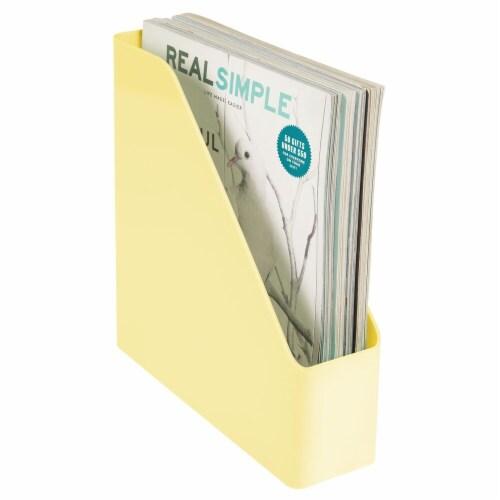mDesign Plastic File Folder Bin, Office Desktop Organizer, 8 Pack Perspective: left