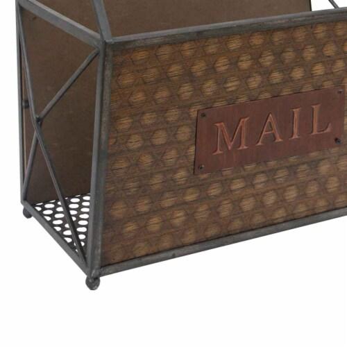 BenzaraMetal Frame Mail Basket Perspective: left