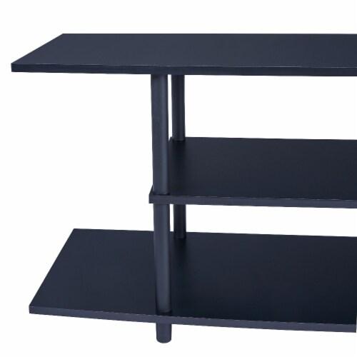 Benzara Wooden TV Stand - Black Perspective: left
