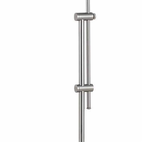 Adjustable Height Metal Pharmacy Lamp with Pull Chain Switch in Silver Perspective: left