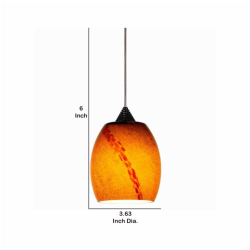 Saltoro Sherpi 5W Integrated LED Pendant Lighting with Dimmer Feature, Yellow and Bronze Perspective: left