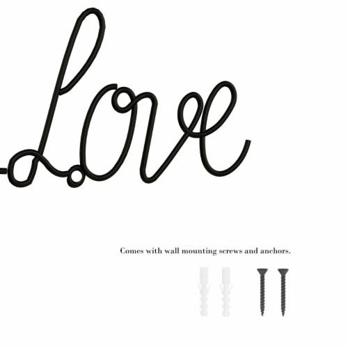 Metal Cutout- Live Laugh Love Cursive Cutout Sign-3D Word Art Home Accent Decor Perspective: left