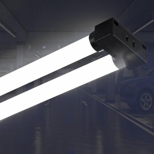 4FT 40-watt Integrated LED Linkable Shop Light 4Pack Perspective: left