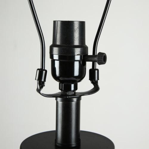 Cedar Hill 25-In Dark Bronze Table lamp  Fabric Shade Perspective: left