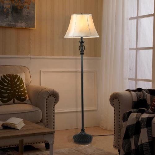 Cedar Hill 59-in Dark Bronze Floor lamp Perspective: left