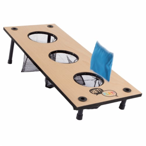 2-in-1 Washer Pitch and Beanbag Toss Wooden Cornhole Game Set Perspective: left