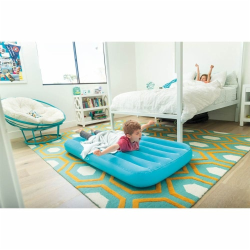 Intex Cozy Kidz Air Bed Mattress with Carry Bag and Intex Electric Air Bed Pump Perspective: left
